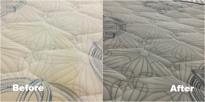 Before and after cleaning with Mattress Cleaning Brunswick