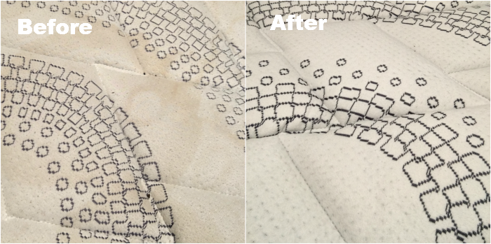Before and after mattress cleaning Doncaster